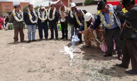 Inauguración de obra distrito 9 El Alto